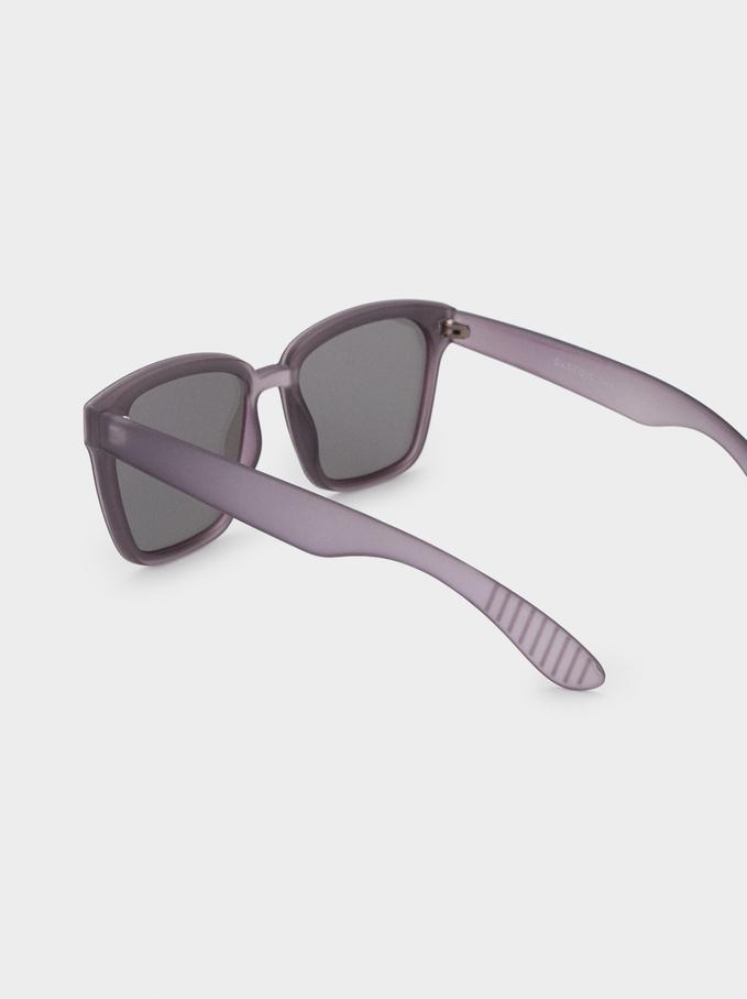 Óculos De Sol De Armação Quadrada, Lilás, hi-res