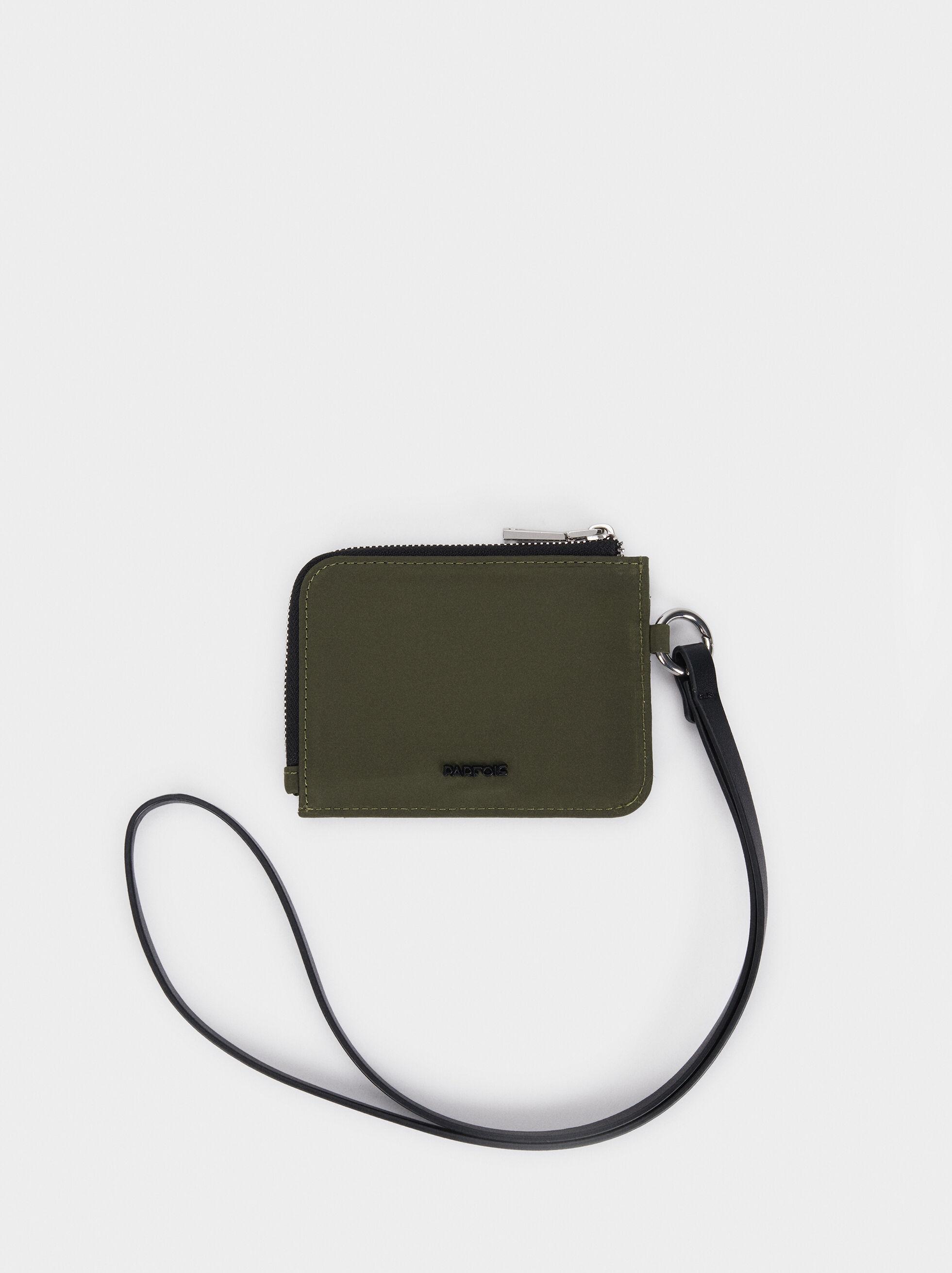 Nylon Card Holder, Khaki, hi-res