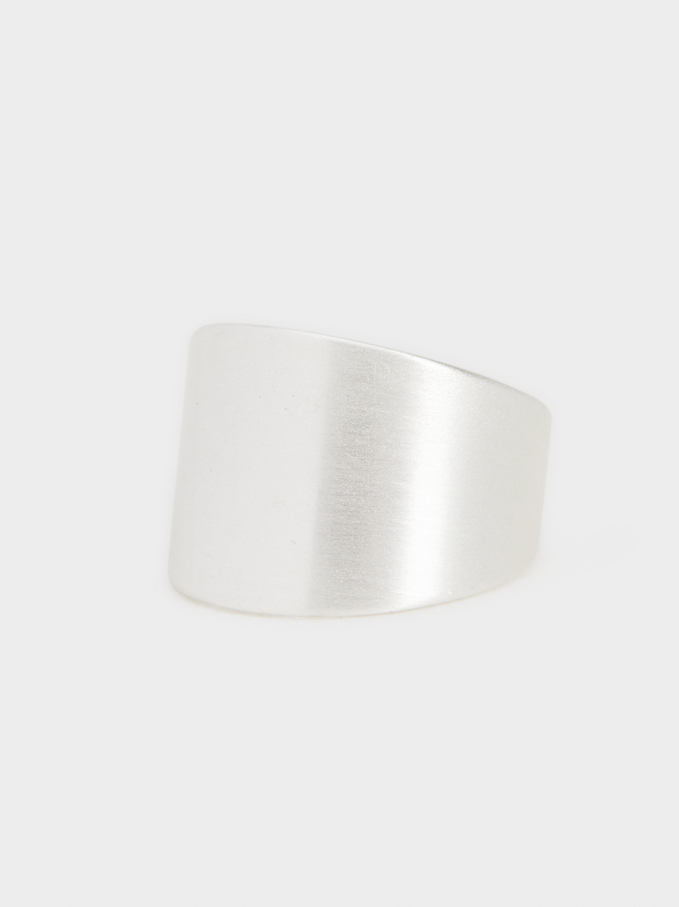 Wide Silver Ring, Silver, hi-res