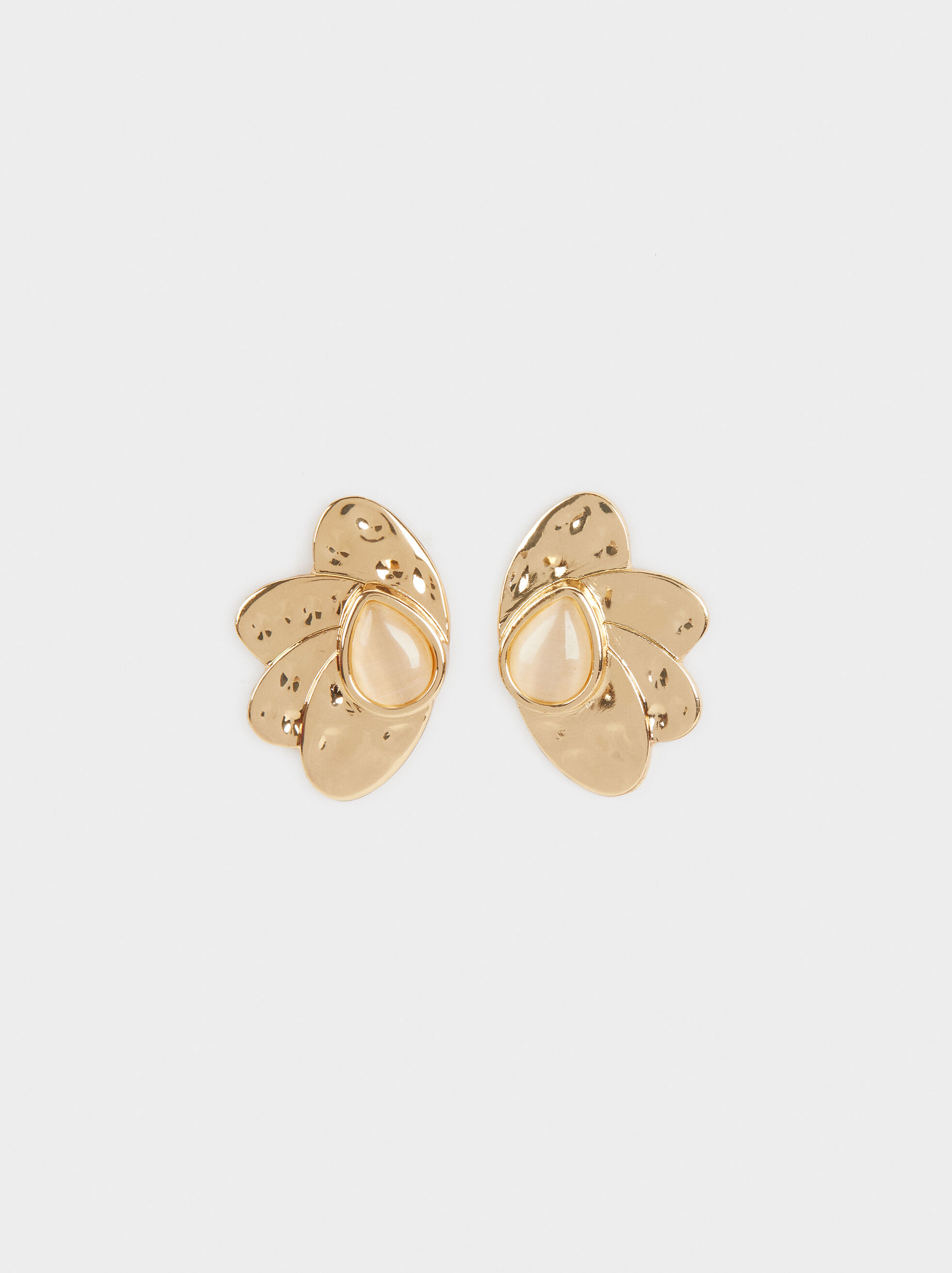 Short Earrings With Stone, , hi-res