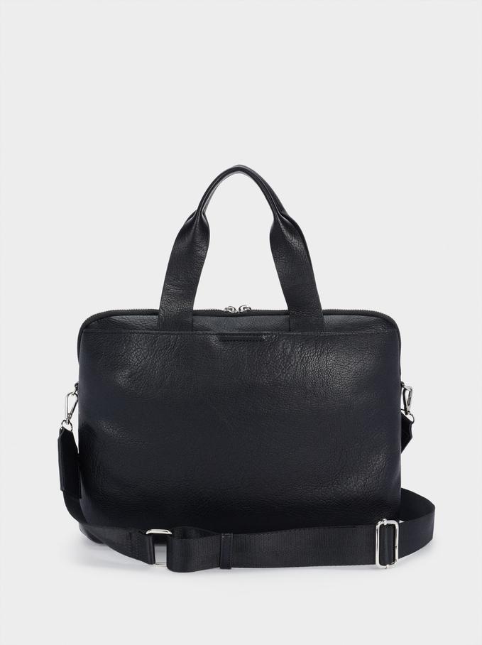 """Briefcase For 13"""" Laptop, Black, hi-res"""