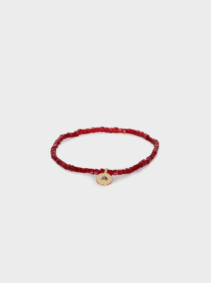 Crystal Elasticated Bracelet, Golden, hi-res