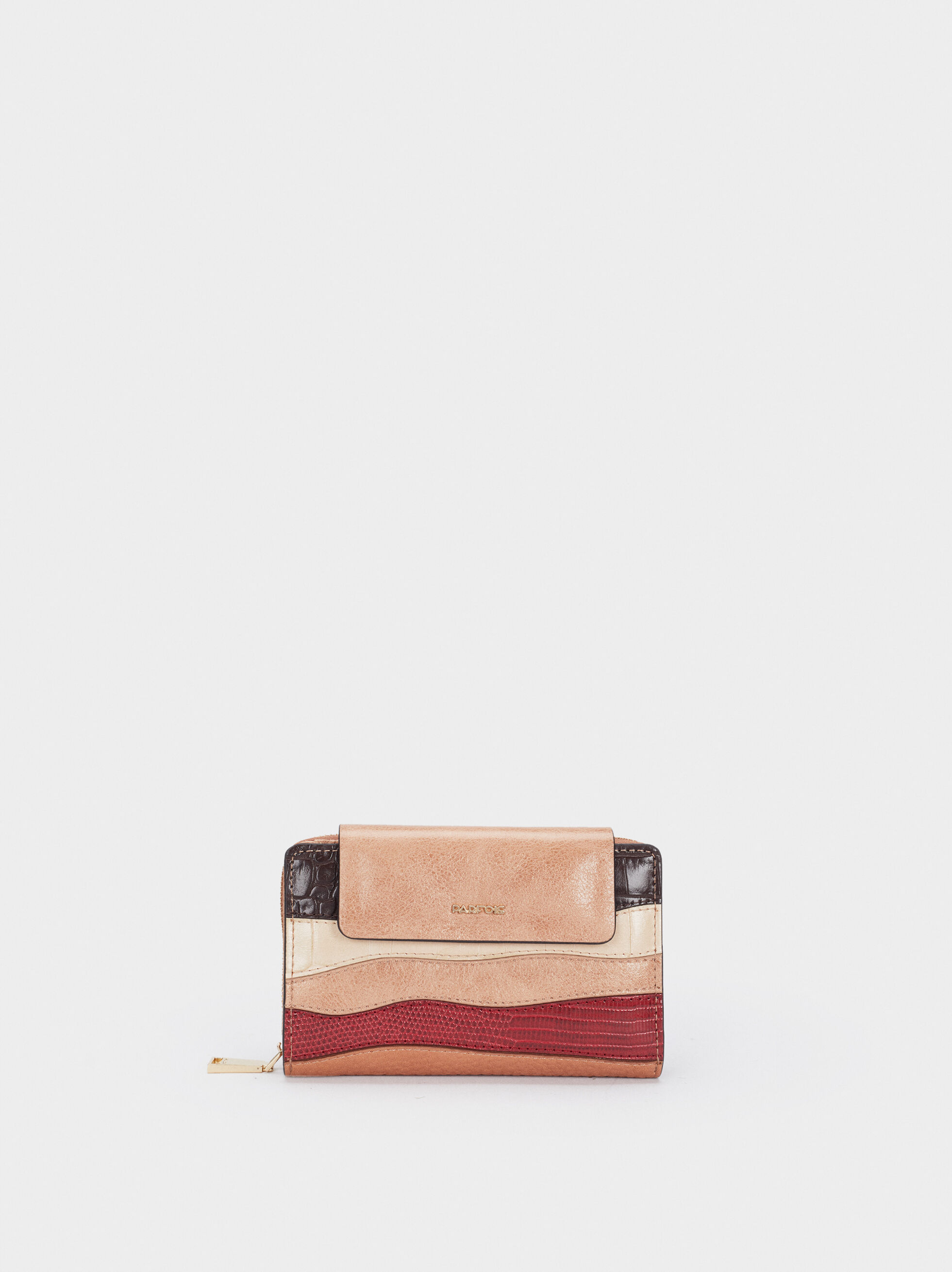 Patchwork Purse, Brown, hi-res