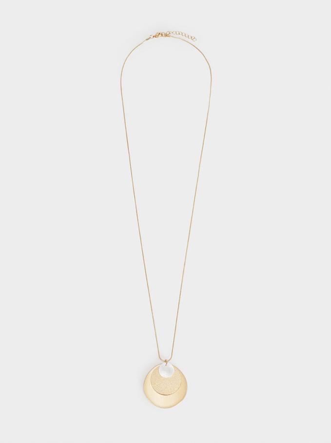 Basic Long Necklace, Golden, hi-res