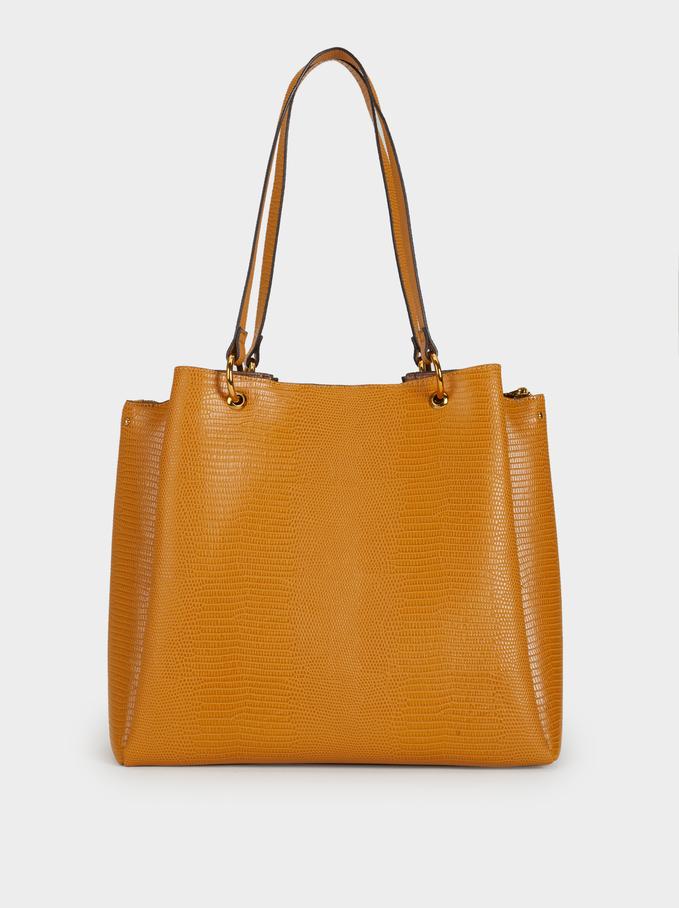 Plain Tote Bag, Mustard, hi-res
