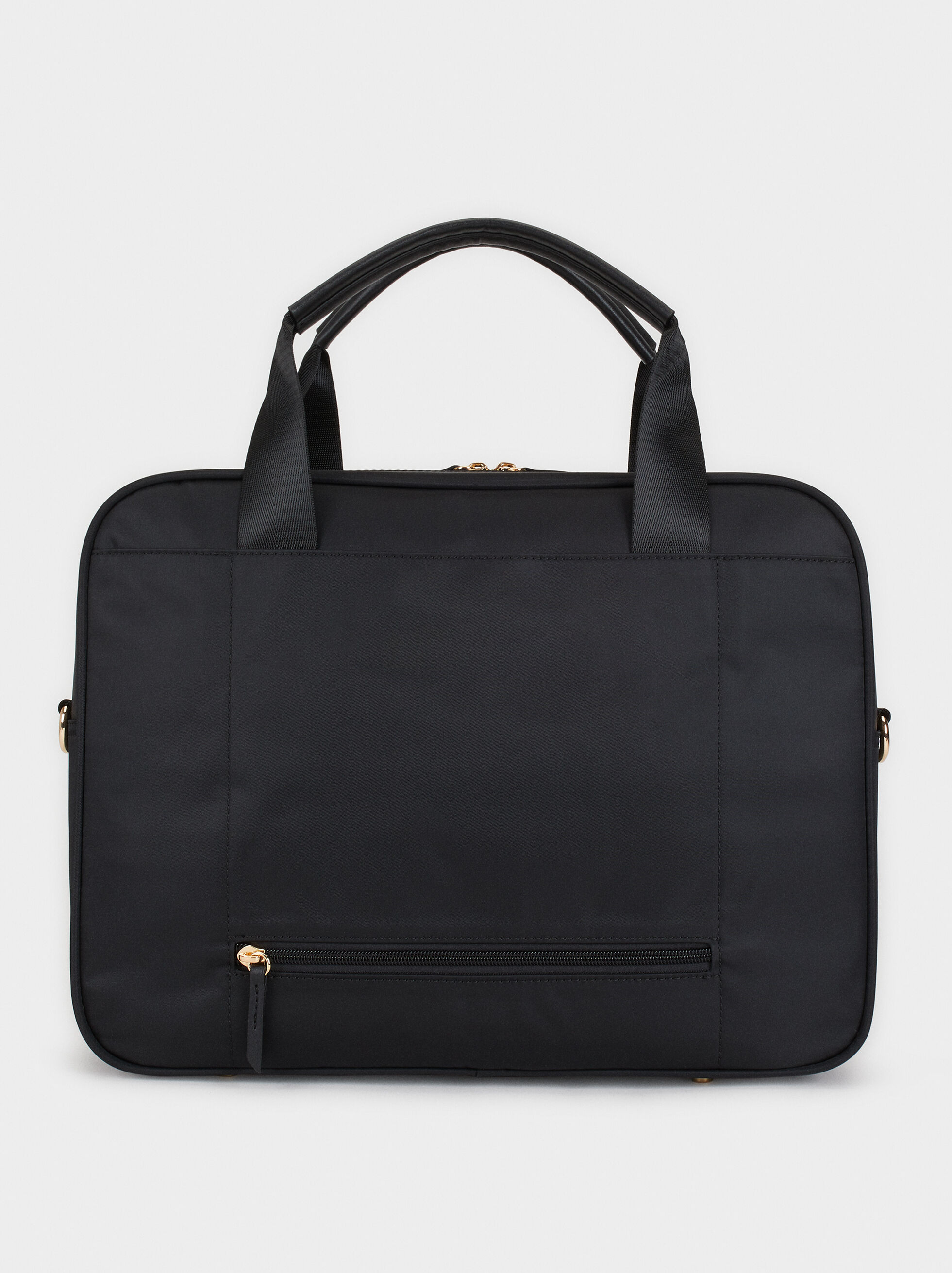 Nylon Briefcase, Black, hi-res