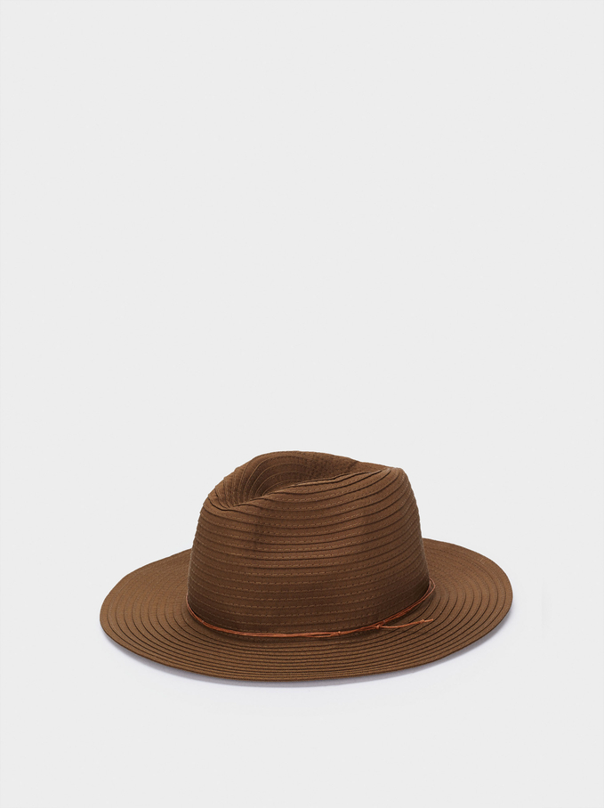 Woollen Hat With Contrasting Band, Khaki, hi-res