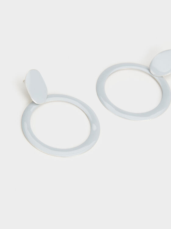 Medium-Sized Magnolia Circle Earrings, Multicolor, hi-res