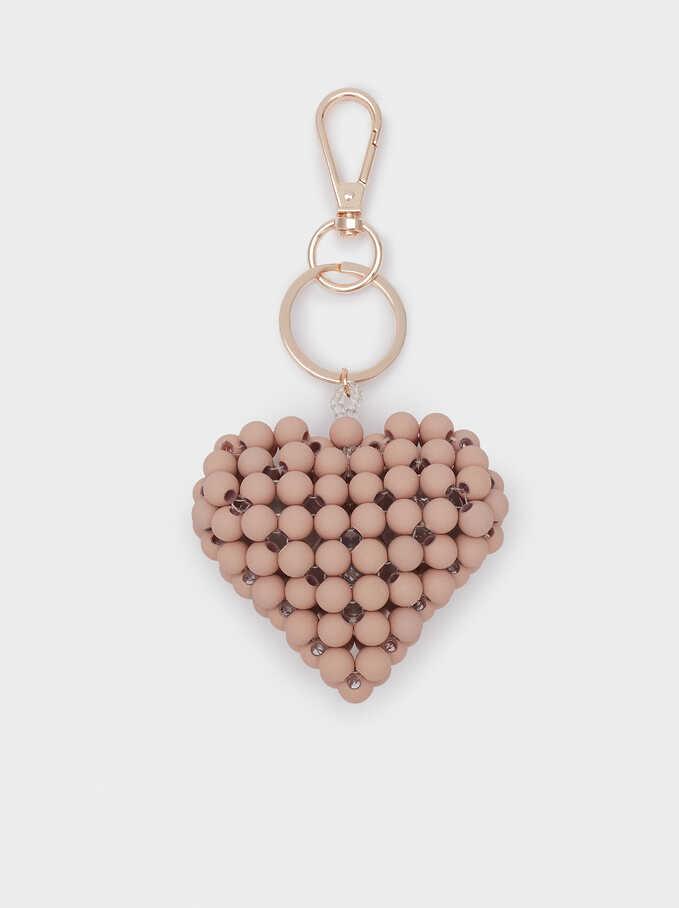 Heart Key Ring, Pink, hi-res