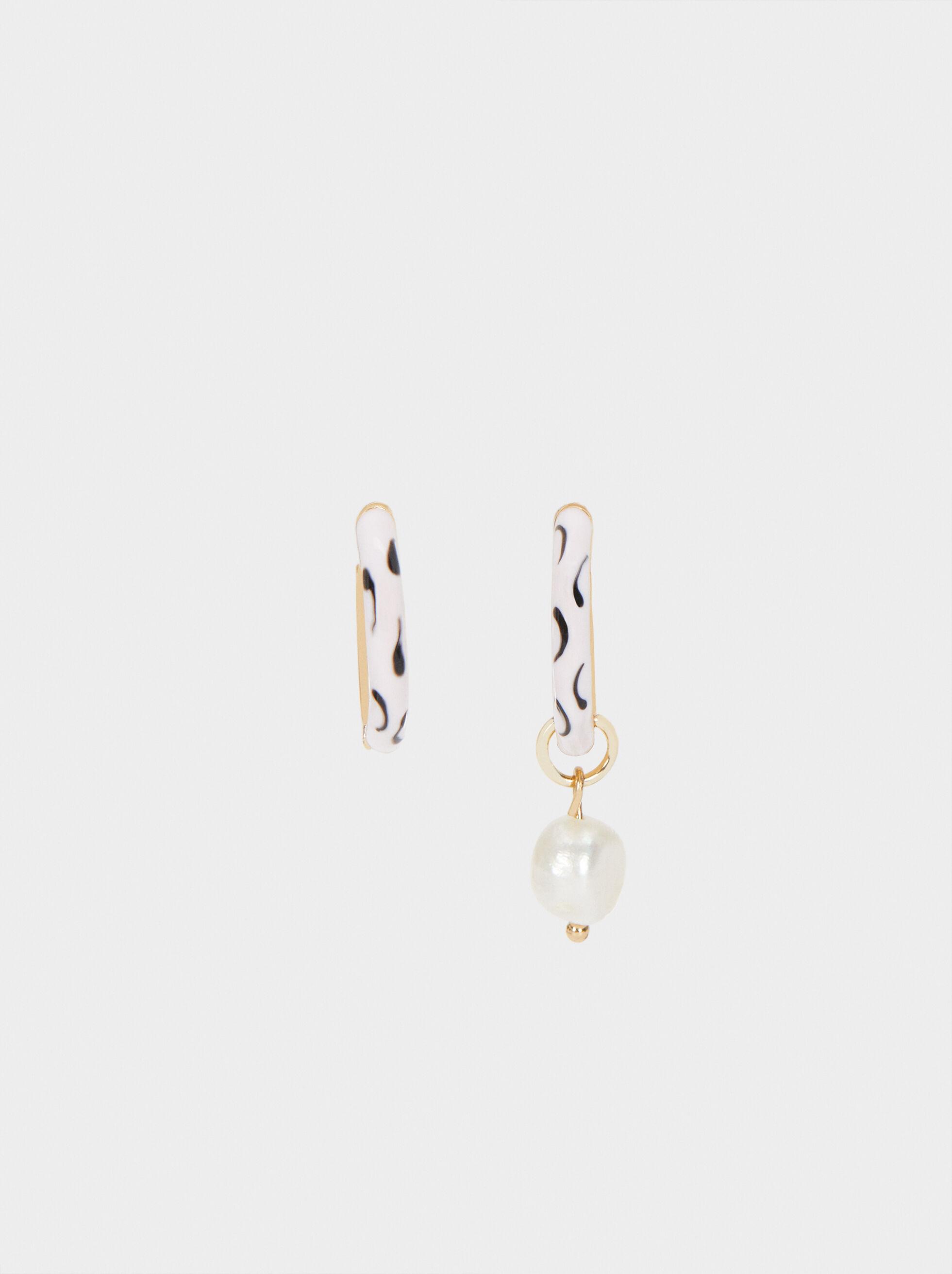 Set Of Small Hoop Earrings, Multicolor, hi-res