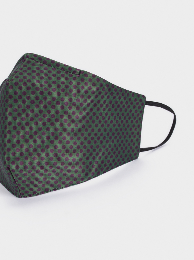 Reusable Printed Mask, Green, hi-res