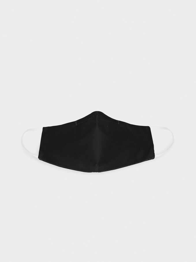 Black Reusable Face Mask, Black, hi-res