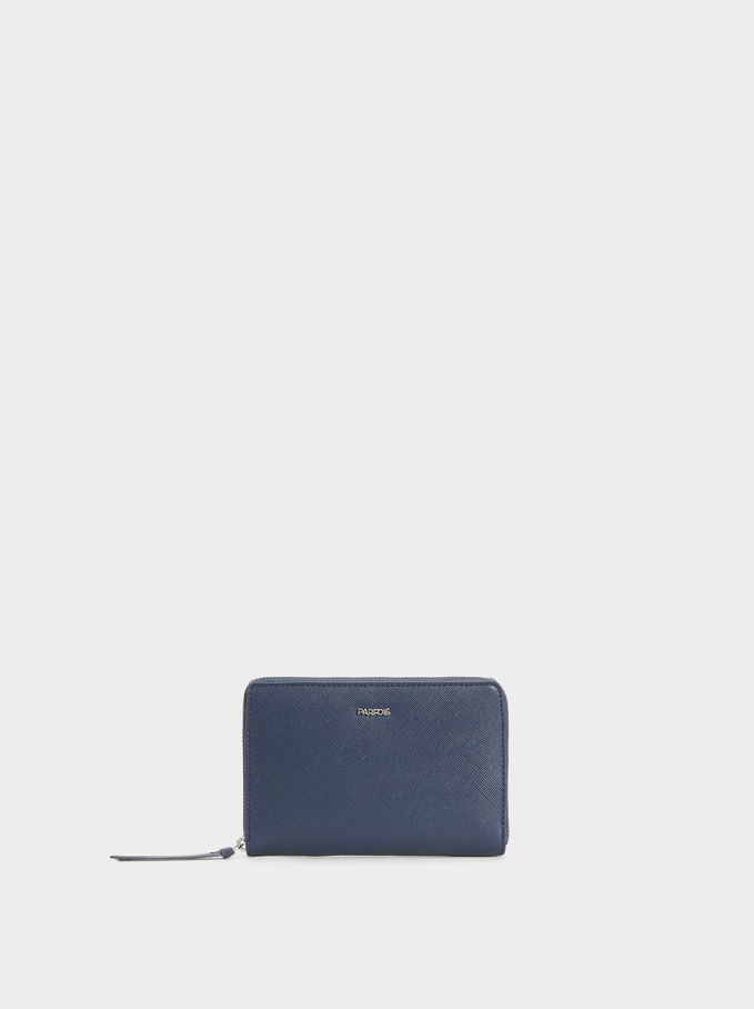 Small Plain Purse, Navy, hi-res