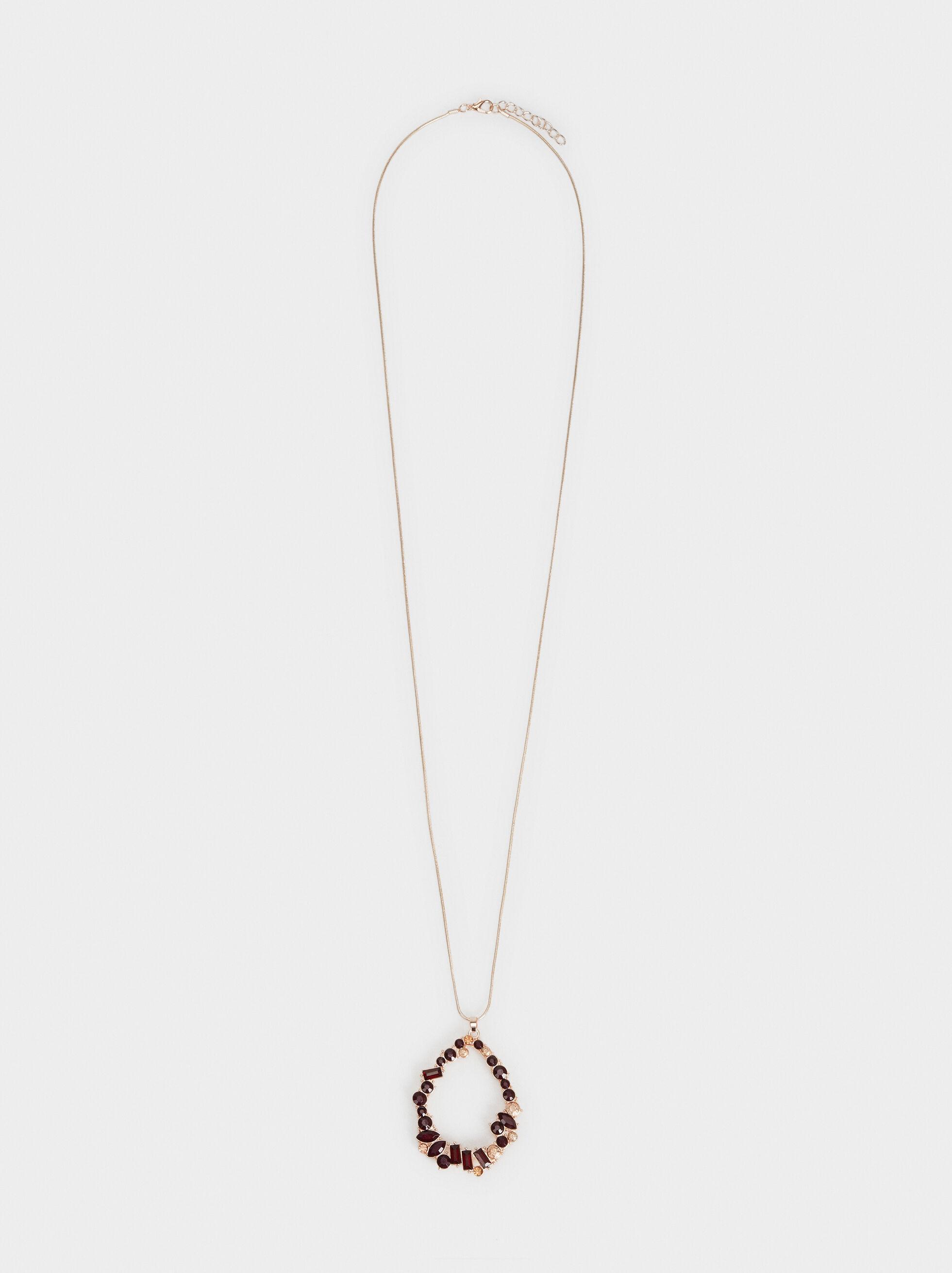 Rose Berry Long Necklace, Bordeaux, hi-res