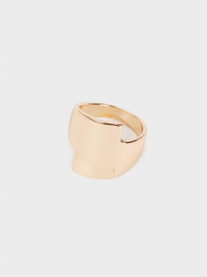 Gold-Toned Ring, Golden, hi-res