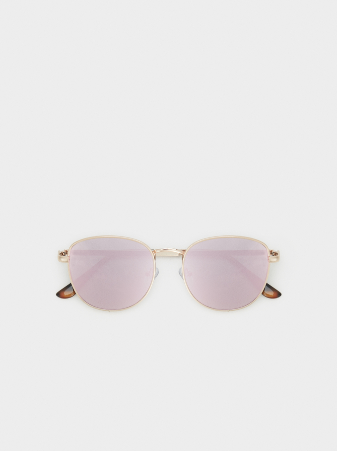 Metal Sunglasses, Orange, hi-res