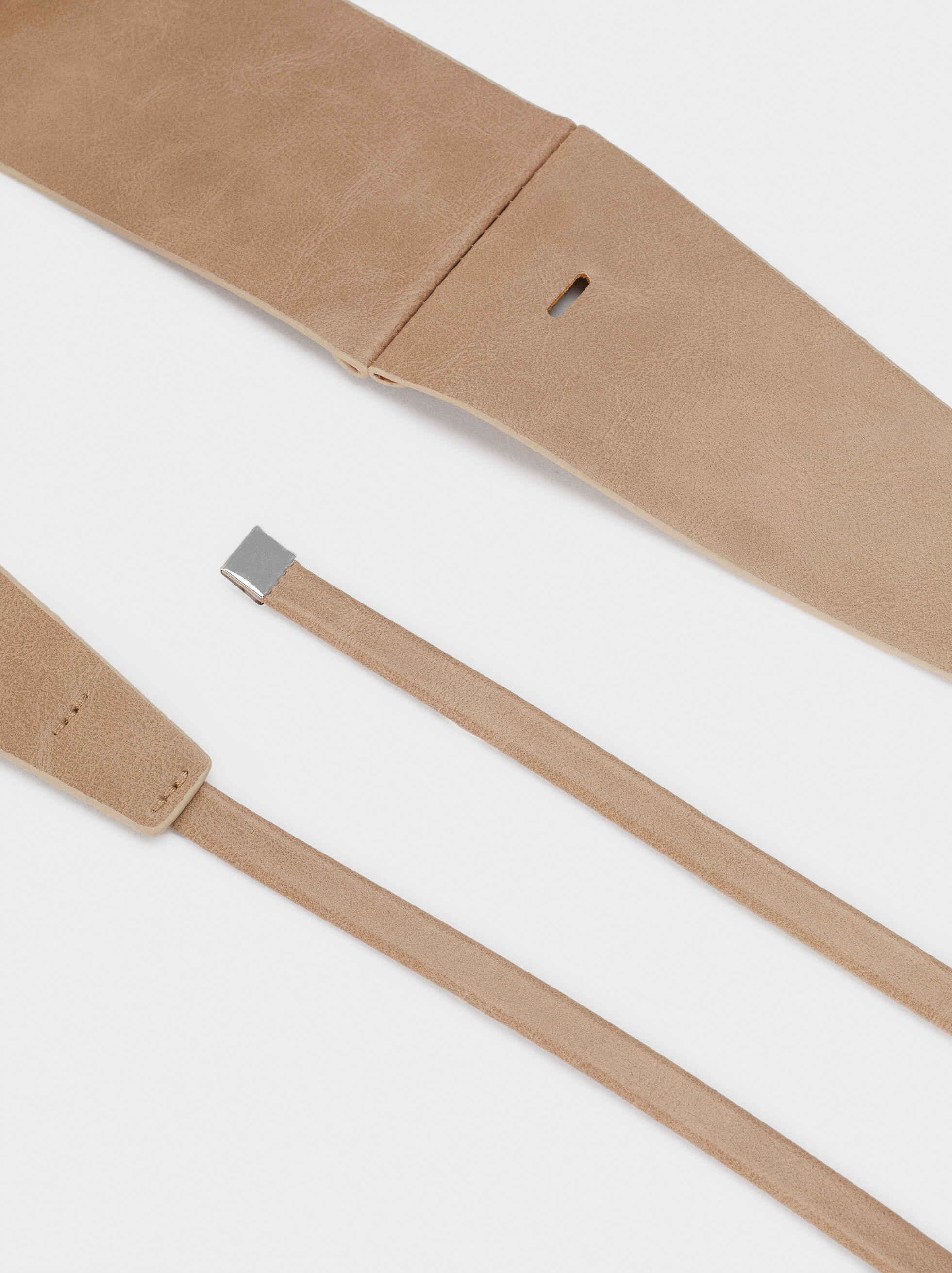 Basic Belt, Beige, hi-res