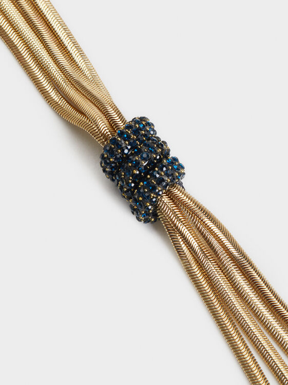 Savage Sparkle Long Necklace, Blue, hi-res