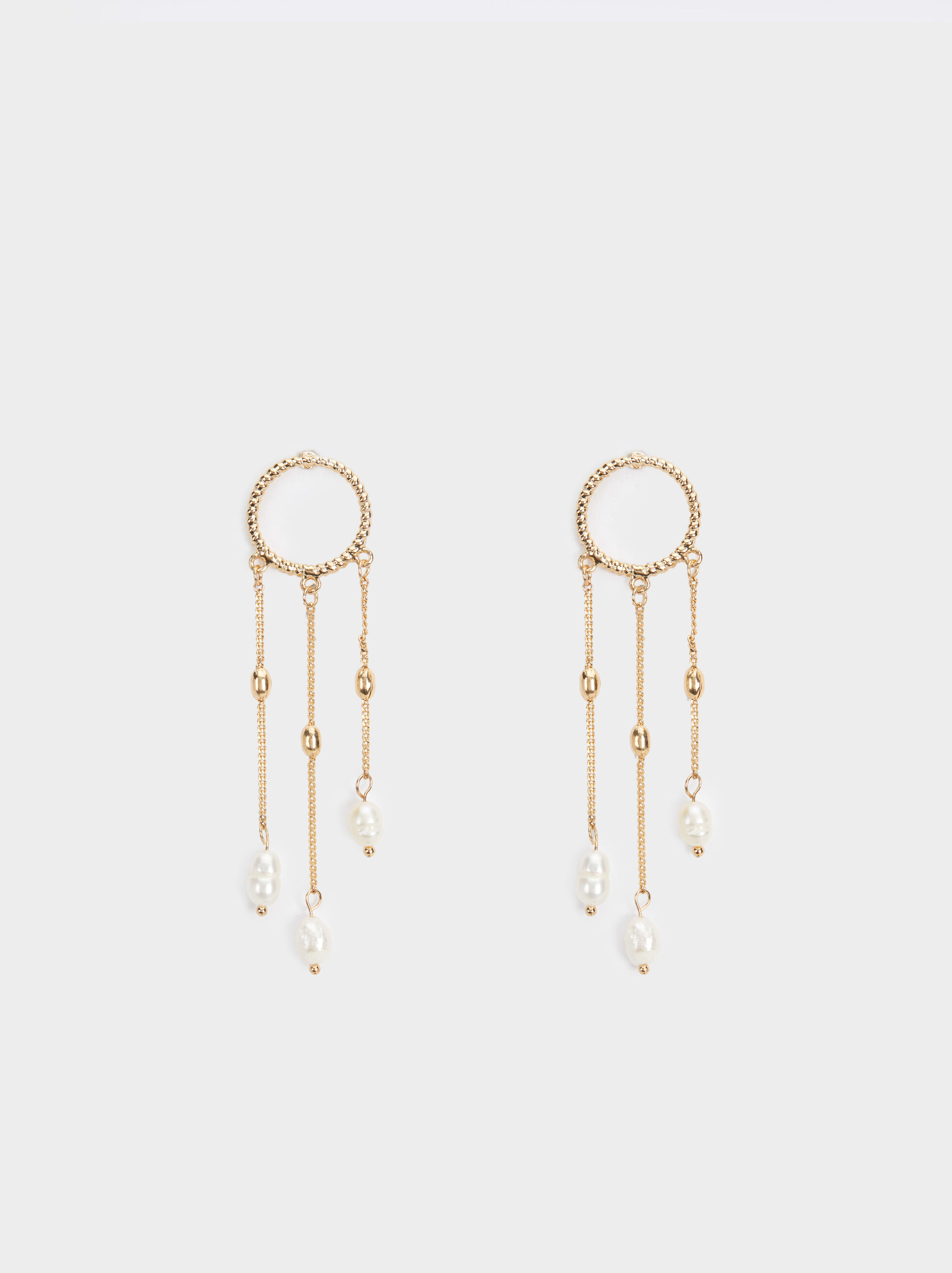 Golden Delicates Dangle Earrings, , hi-res