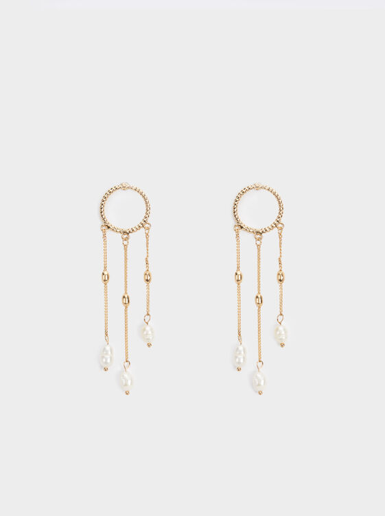 Golden Delicates Dangle Earrings, , hi-res