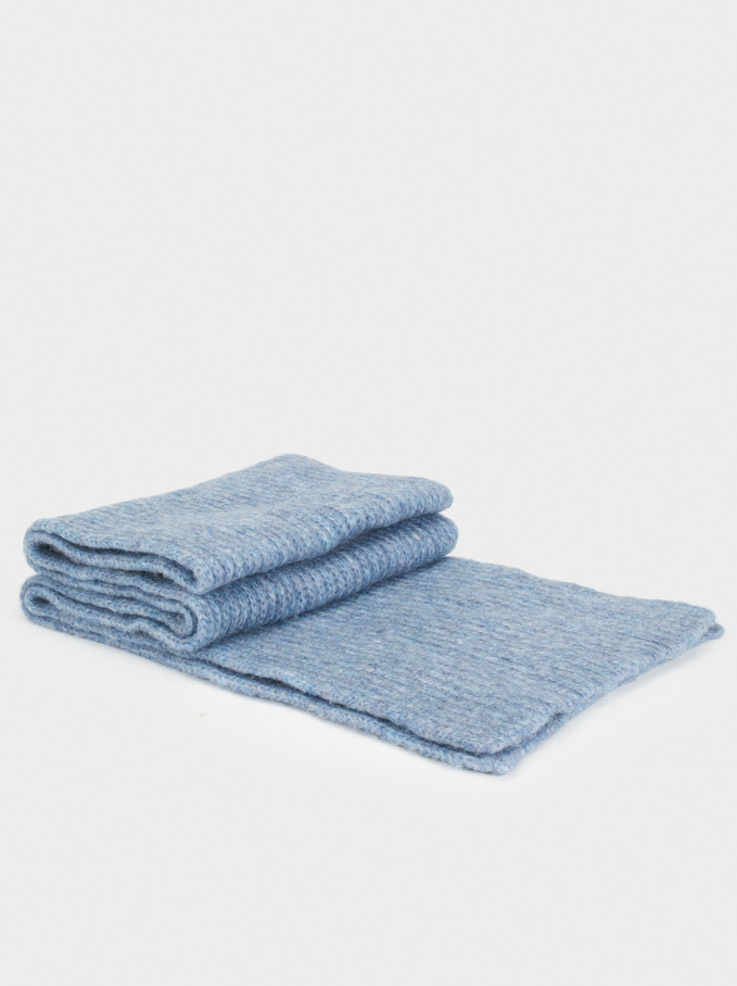 Soft-Touch Scarf, Blue, hi-res