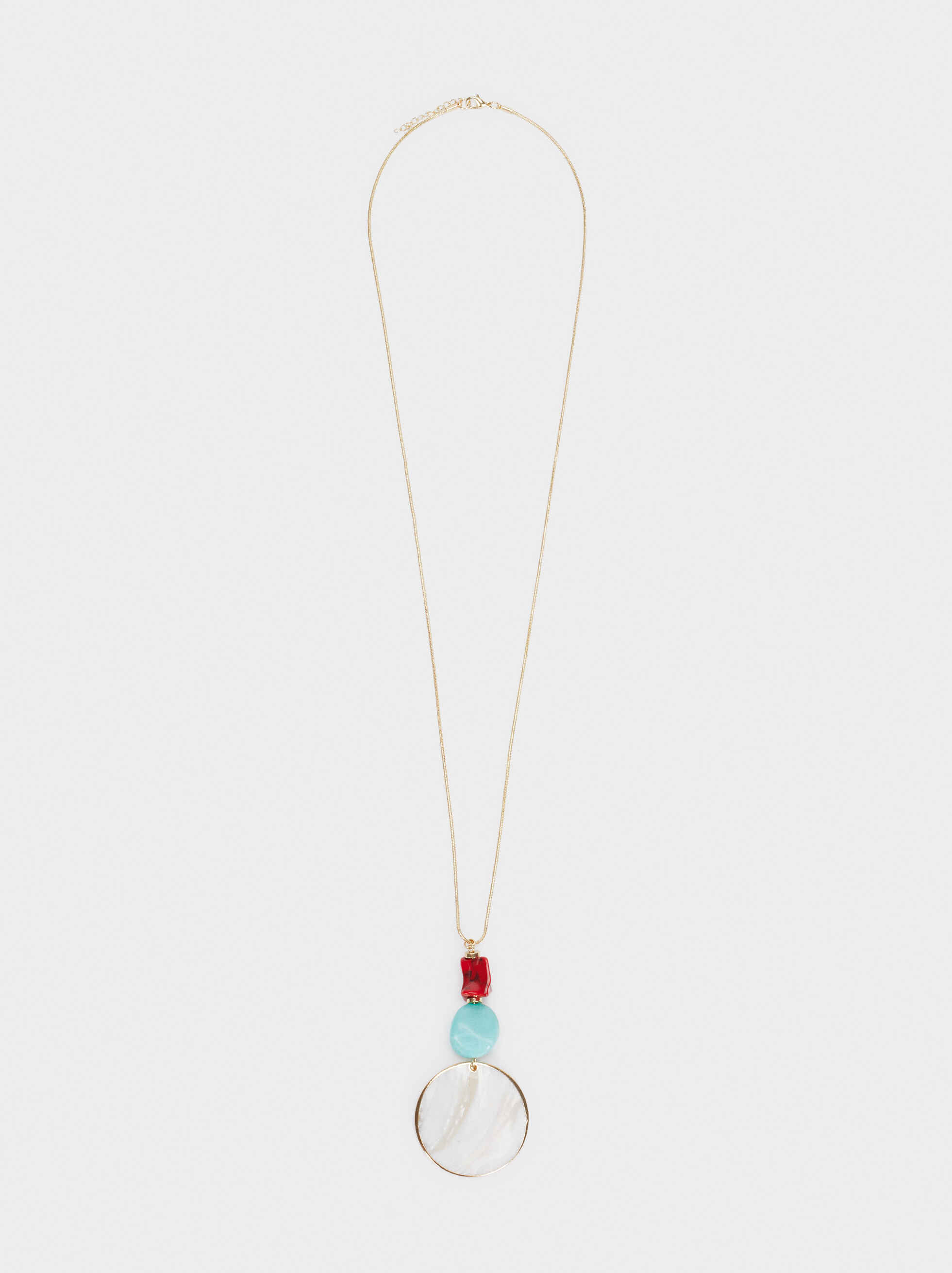 Recife Long Pendant Necklace, Multicolor, hi-res