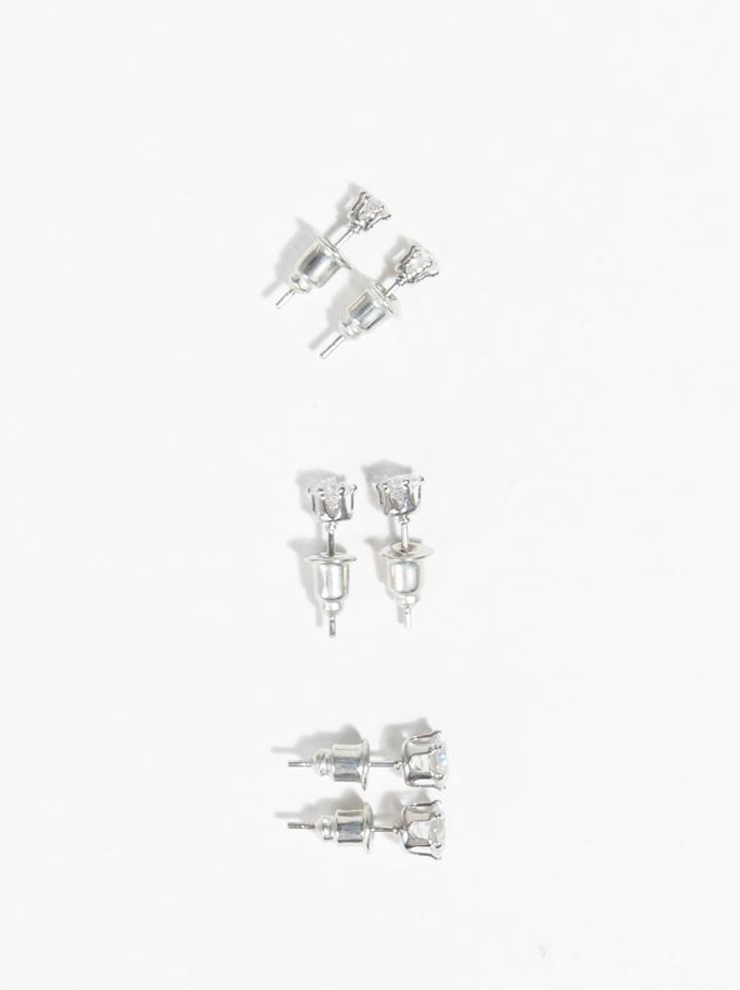 Basic Earrings, Silver, hi-res