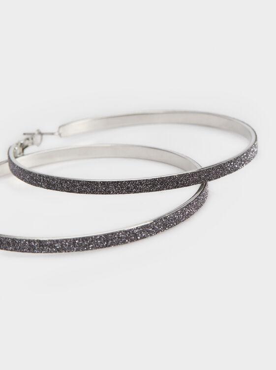 Silver Basics Hoop-Earrings, Silver, hi-res