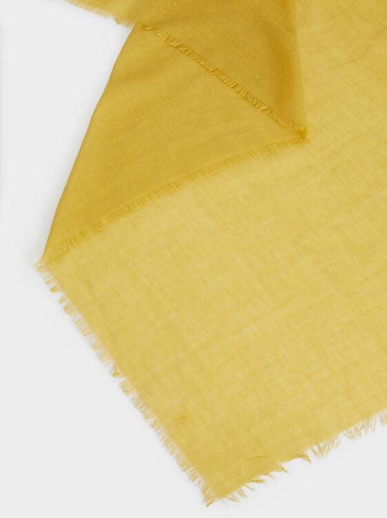 Basic Basic Scarf, Yellow, hi-res