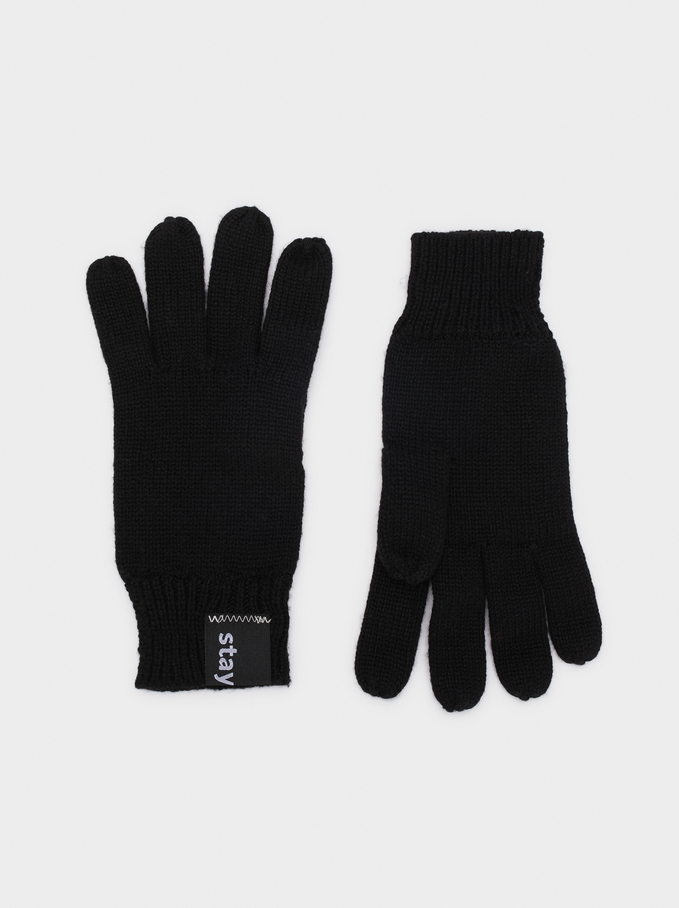 Stay Cool Hat And Gloves Set, Black, hi-res