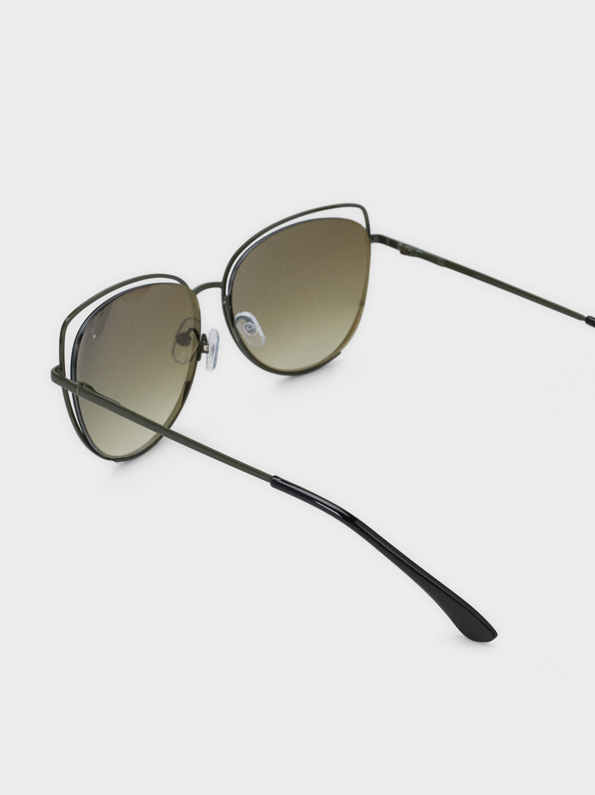 Cat Eye Sunglasses, Green, hi-res