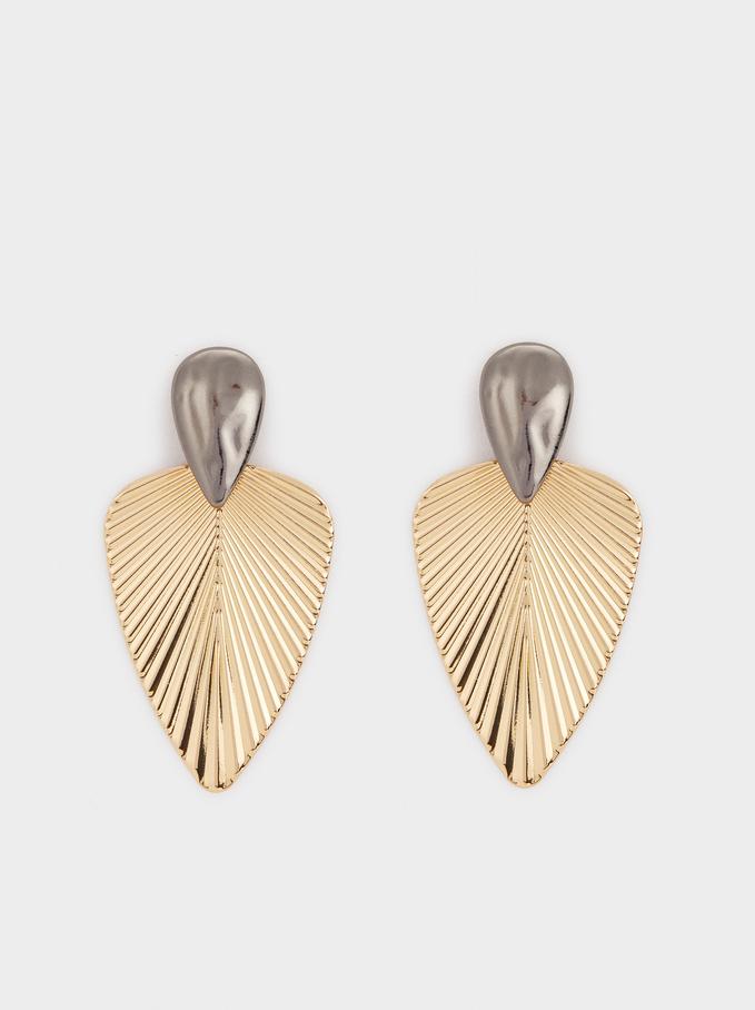 Basic Dangle Earrings, Multicolor, hi-res