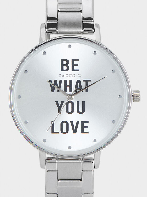 We Are Love Watch, Silver, hi-res