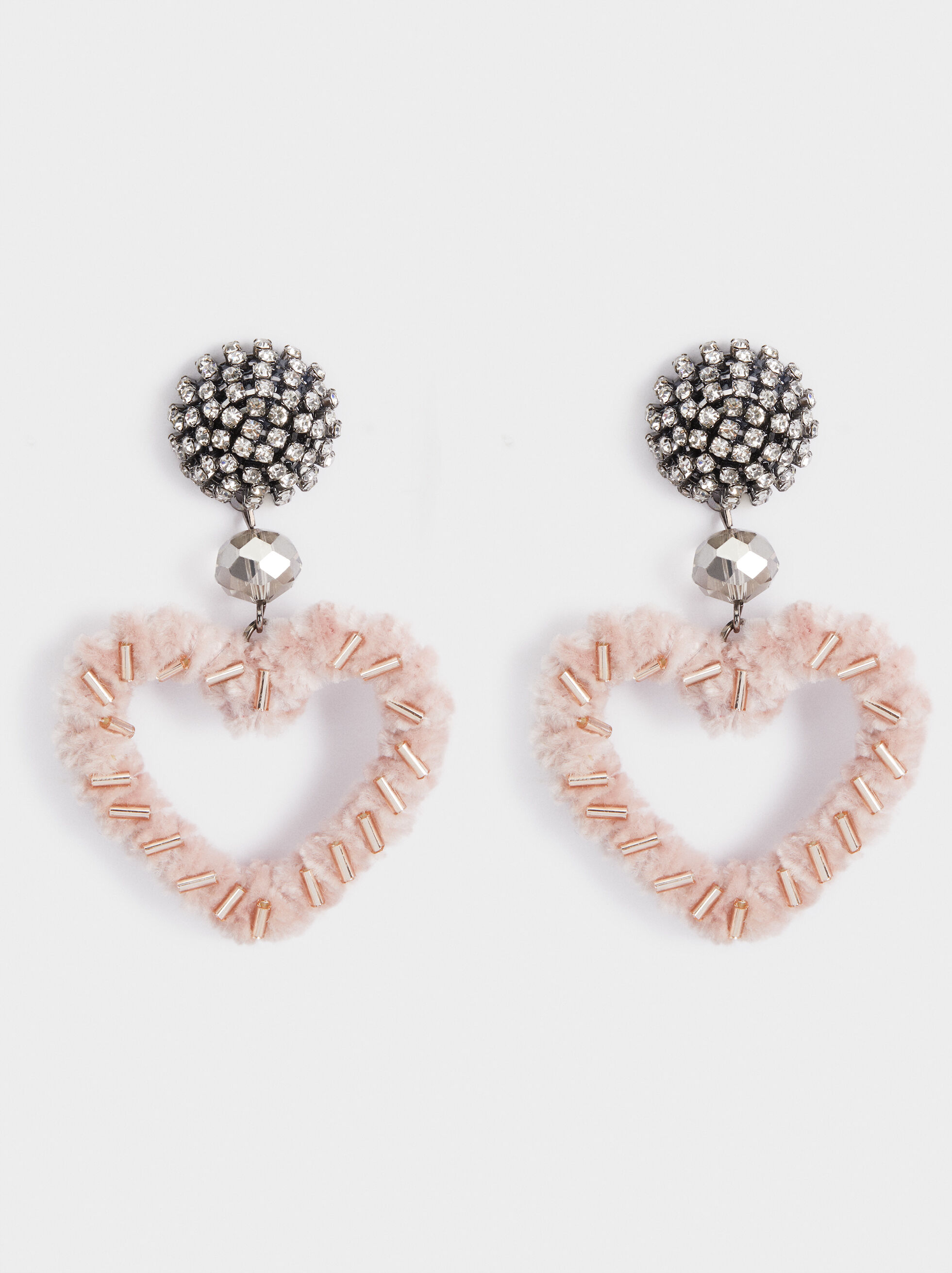 Heart Party Earrings, Pink, hi-res