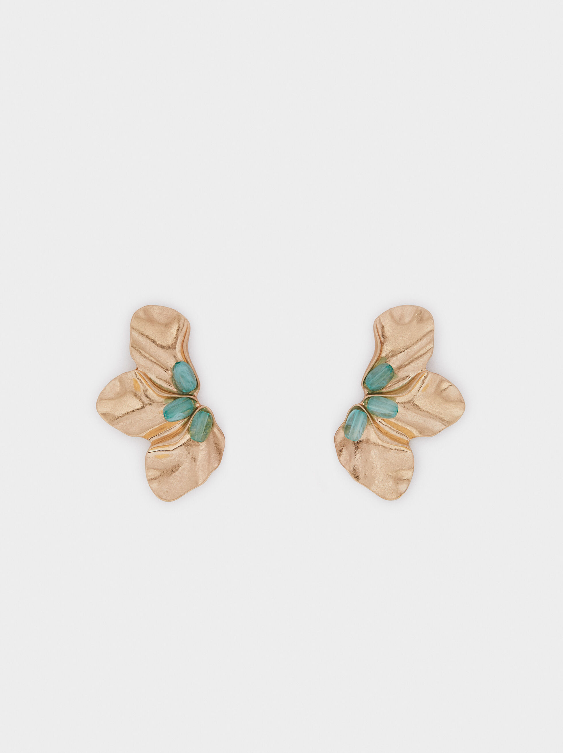 Pendientes Medianos Sea Breeze Flor, Gris, hi-res