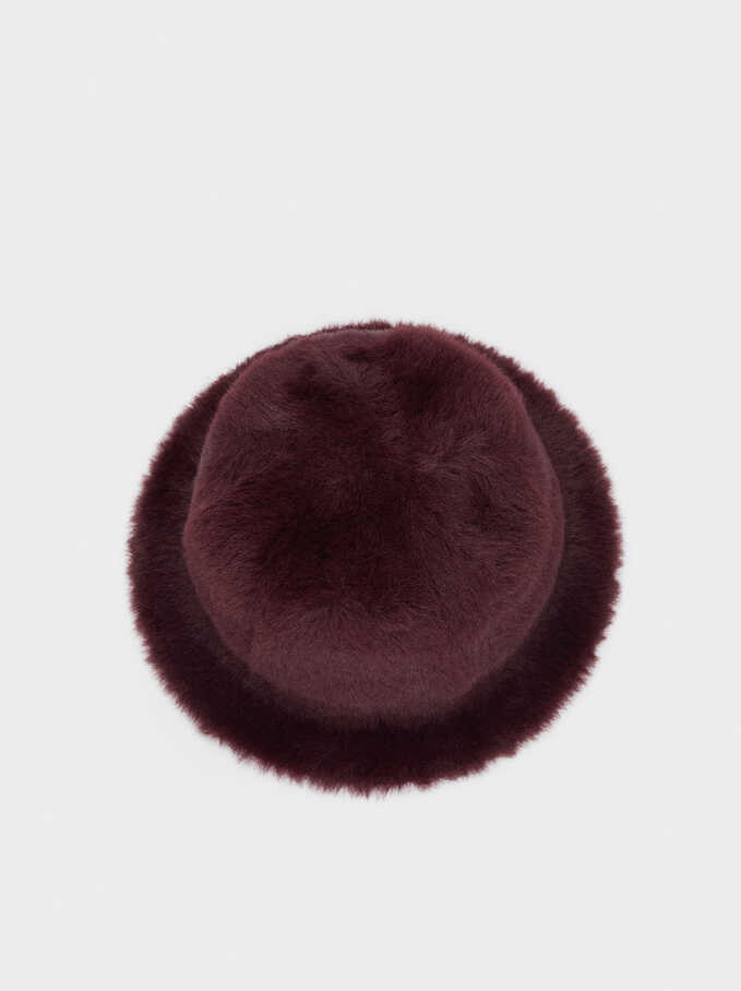 Faux Fur Hat, Bordeaux, hi-res