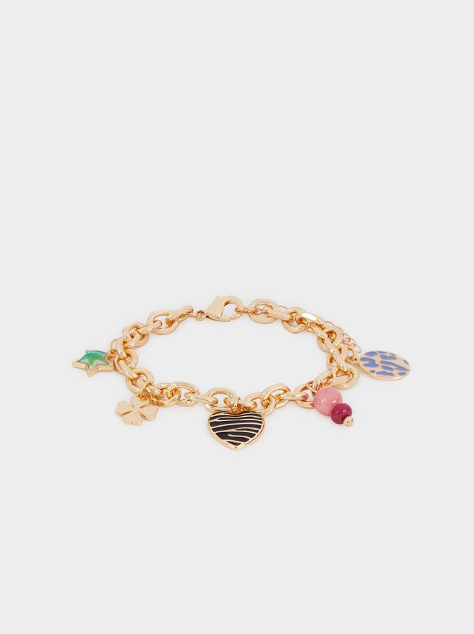 Bracelet Avec Pendentifs Multicolores, Multicolore, hi-res