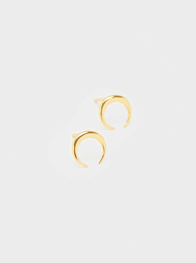 925 Silver Earrings, Golden, hi-res