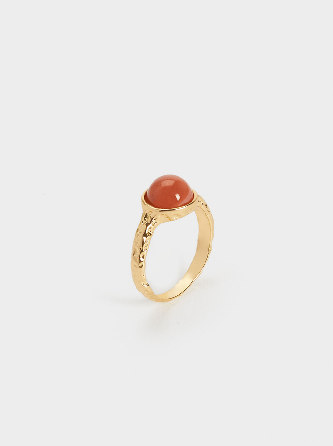 Ring With Stone, Bordeaux, hi-res