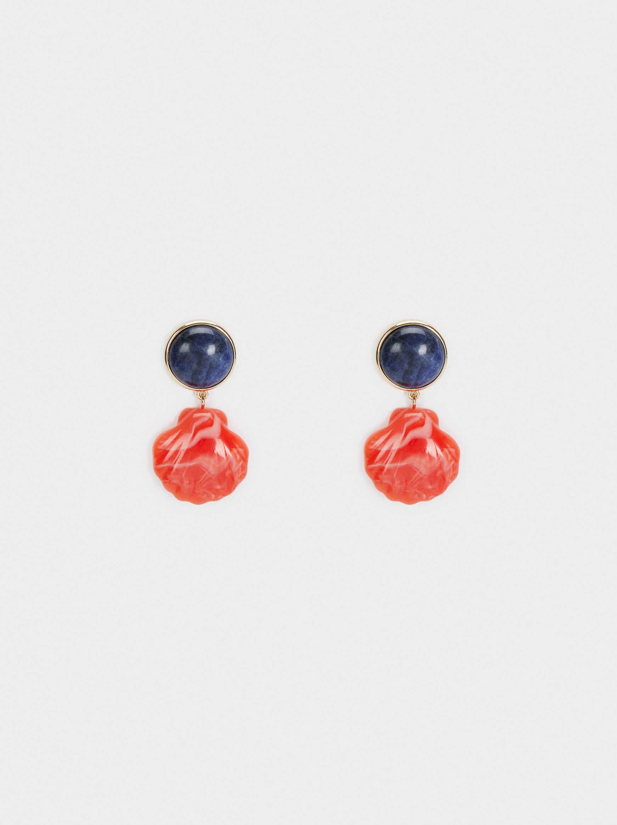 Recife Short Dangle Shell Earrings, Multicolor, hi-res