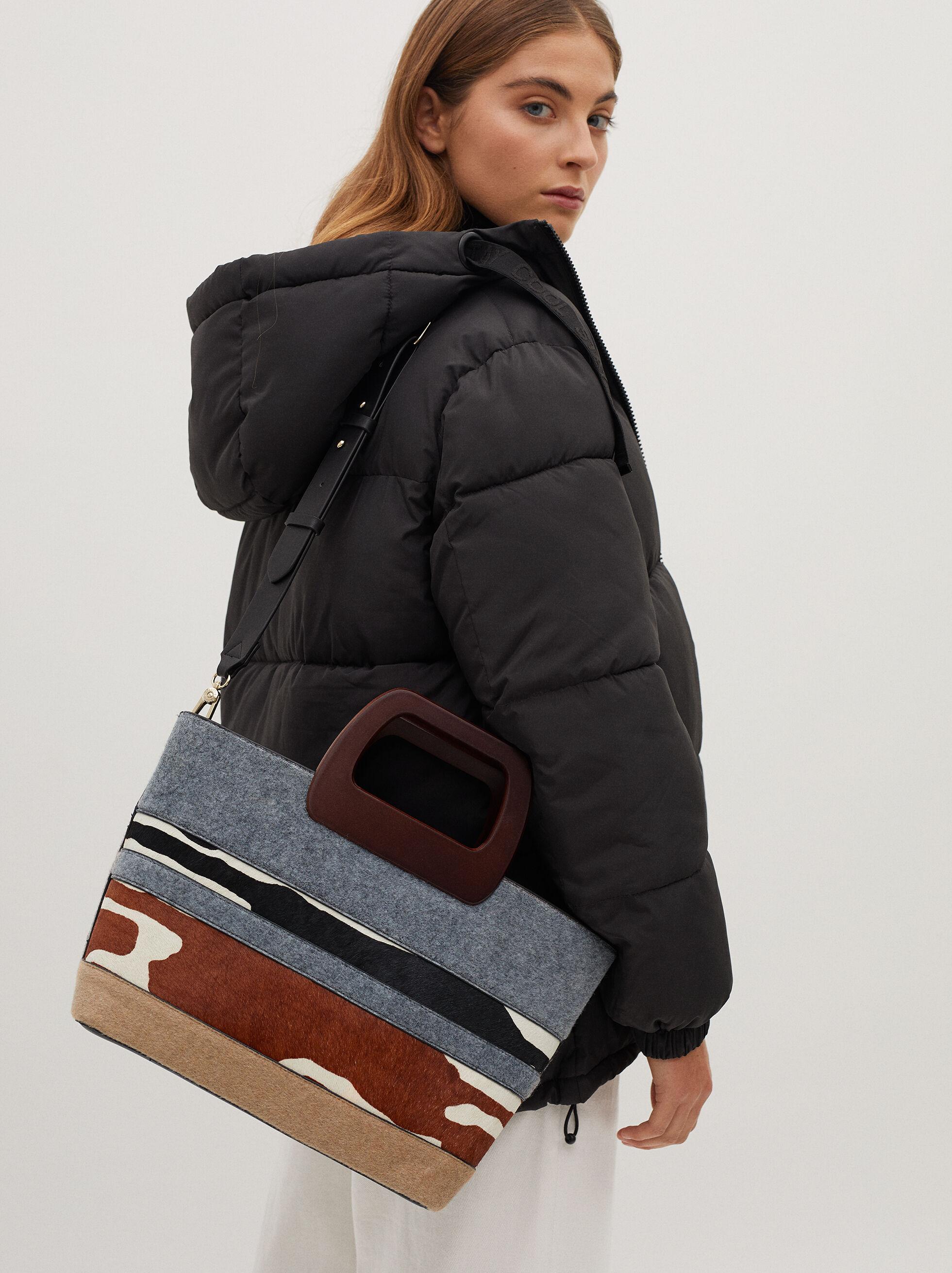 Mala Shopper Patchwork, Cinzento, hi-res