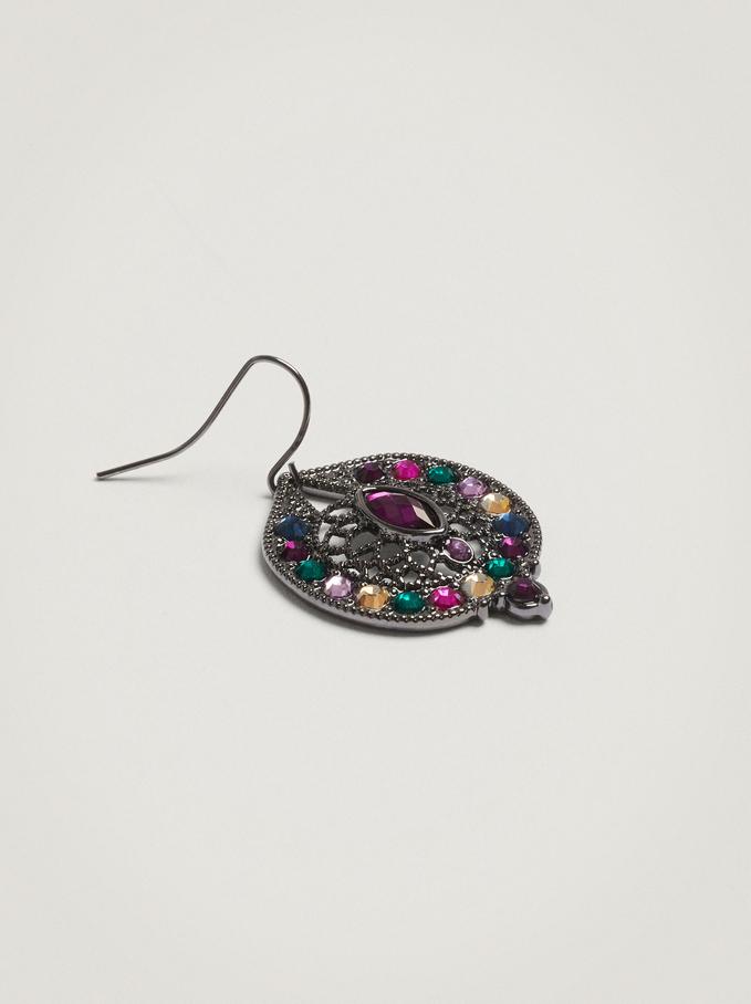 Orecchini Con Perline, Multicolore, hi-res