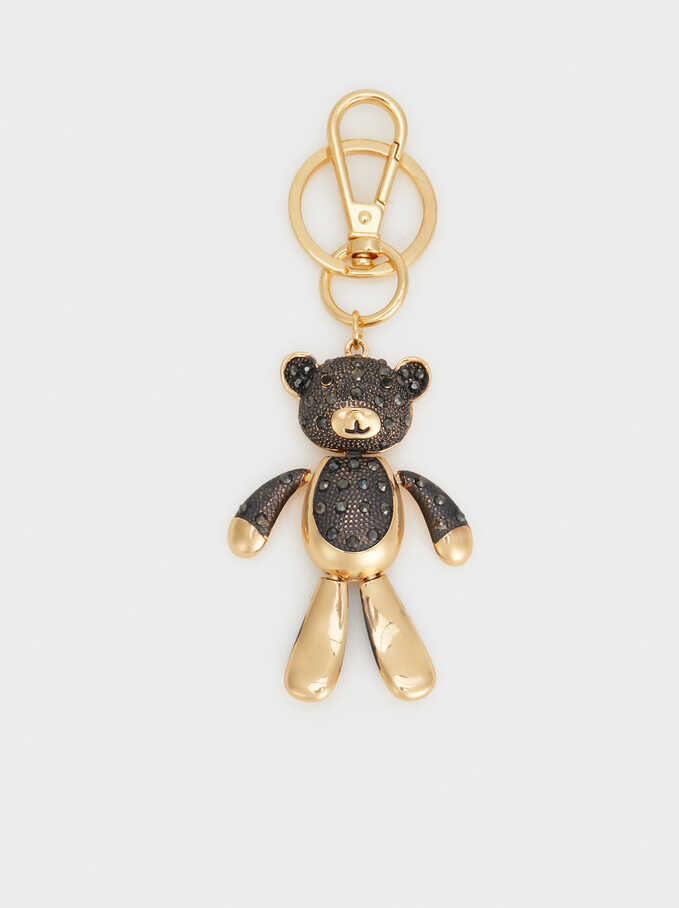 Bear Keychain, Golden, hi-res