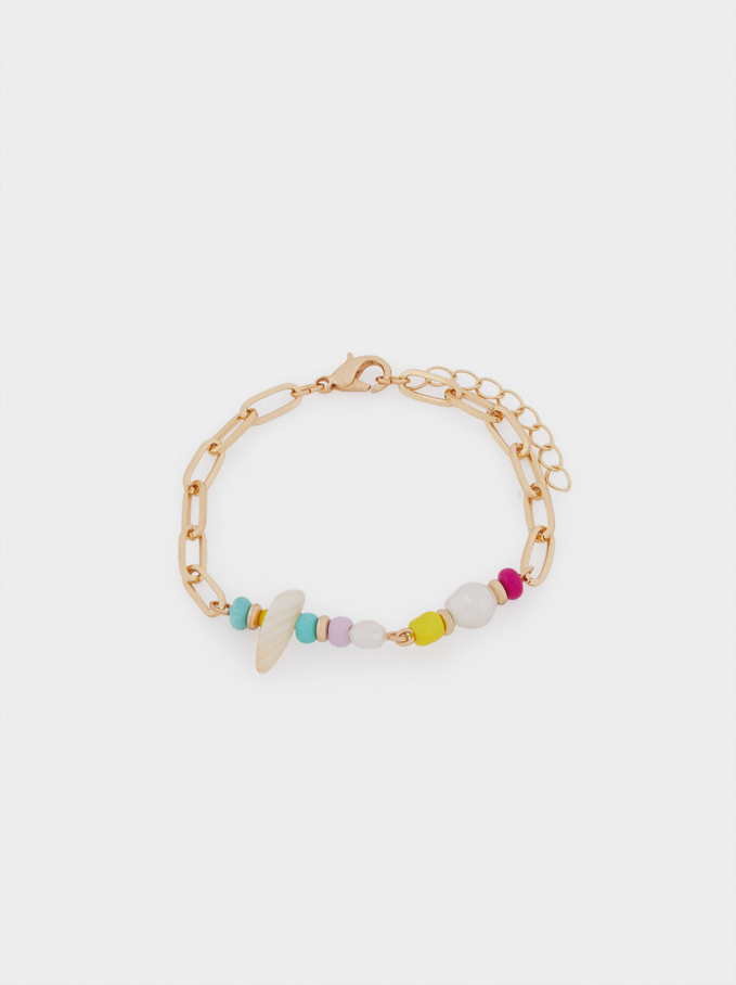 Verstellbares Armband Mit Perlen, Mehrfarbig, hi-res