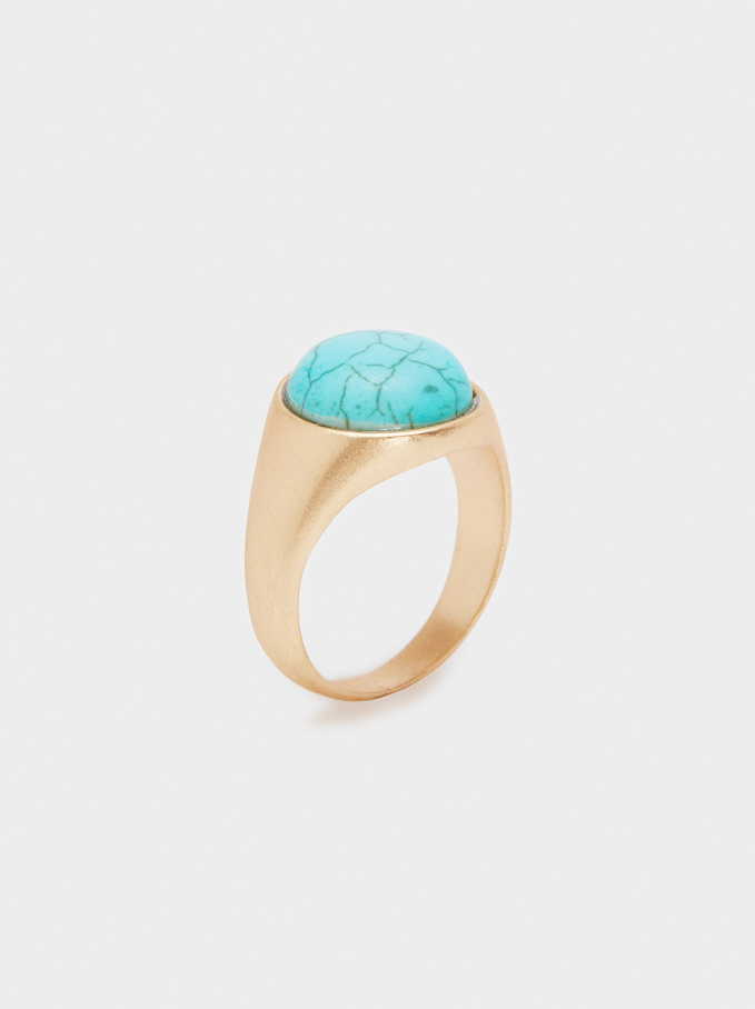 Bague En Pierre Multicolore, Beige, hi-res