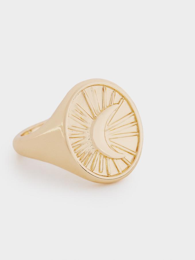 Golden Signet Ring, Golden, hi-res