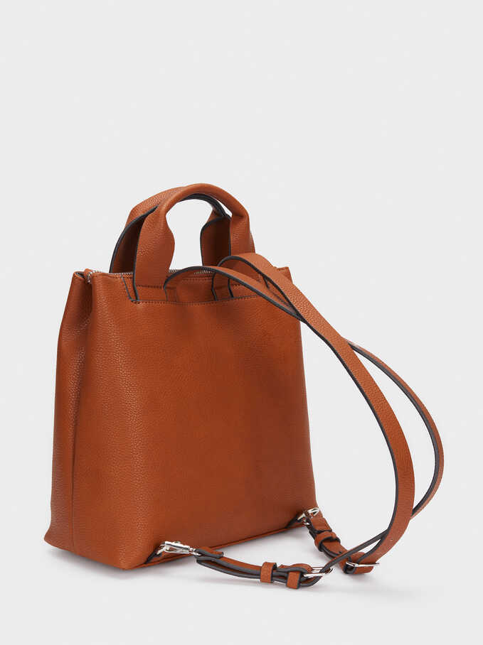 Backpack With Outer Pockets, Camel, hi-res