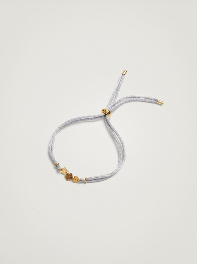 Bracelet Réglable Avec Charms En Acier, Bleu, hi-res
