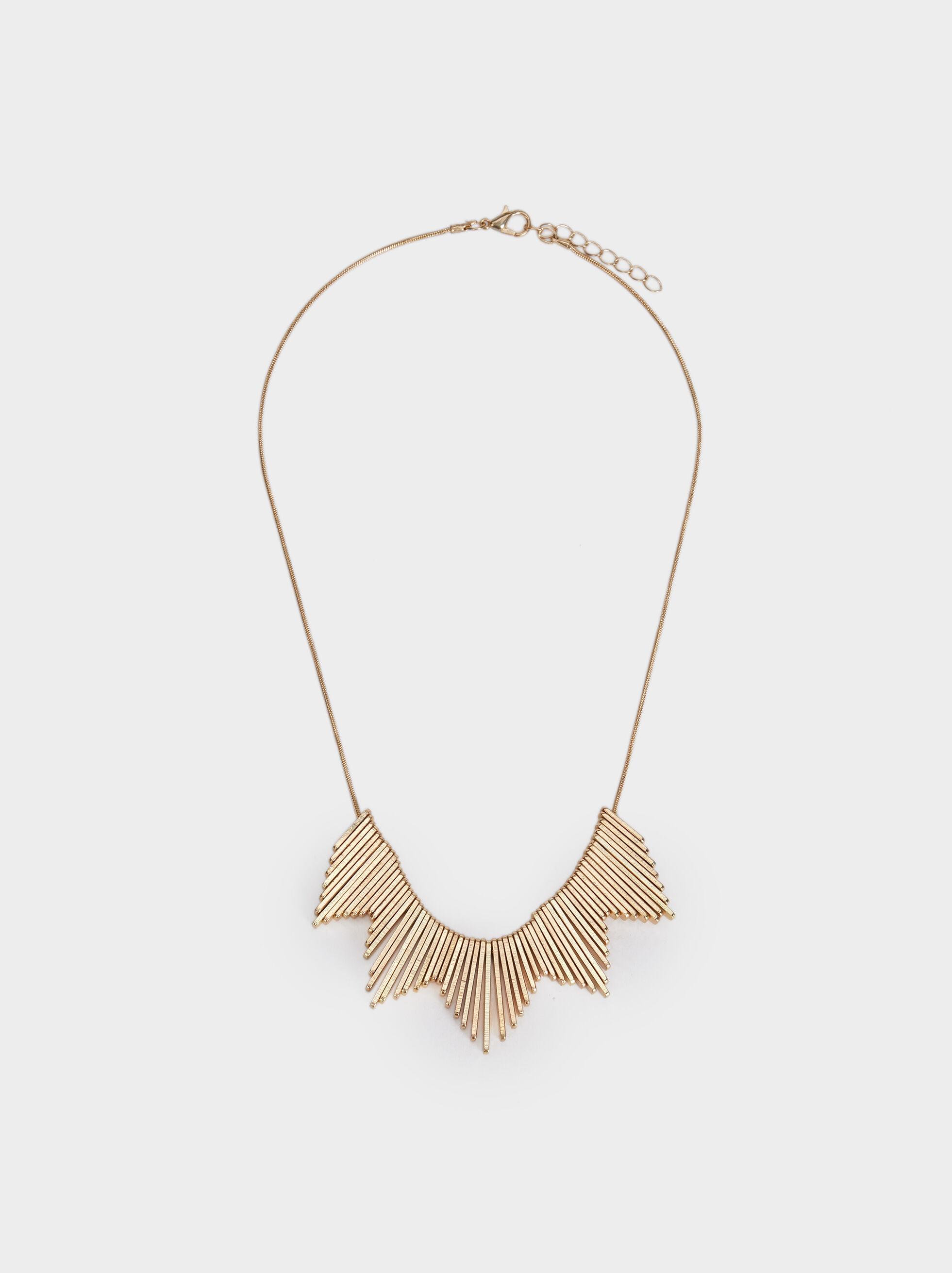 Short Necklace, Golden, hi-res