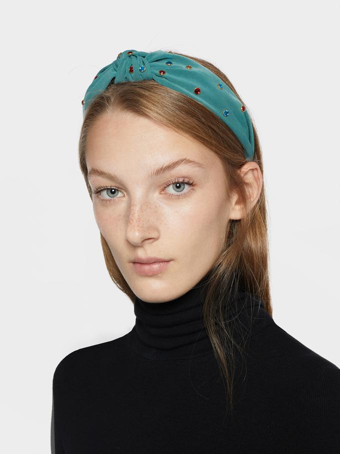 Rhinestone Headband, Multicolor, hi-res